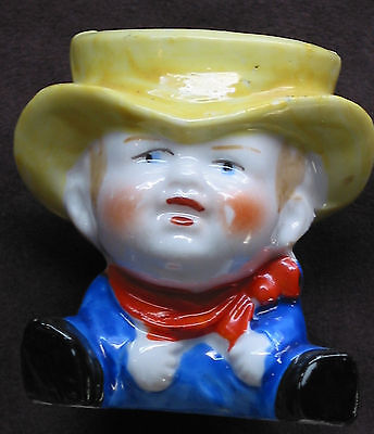 MADE IN JAPAN ~ Little Sitting Boy ~ Maybe a Pin Cushion or Toothpick Holder