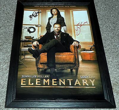 """Elementary Pp Signed & Framed 12X8"""" Photo Poster Johnny Lee Miller Lucy Lui"""