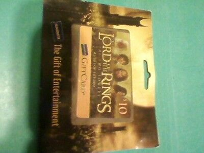 blockbuster Lord of the Rings gift card.-no  value for renting videos collectibl