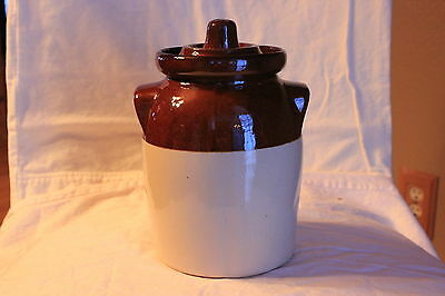 R. Ransbottom Pottery Bean Crock and Lid