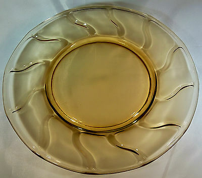 "Fostoria Jamestown Amber 8"" Diameter Luncheon Plate!"