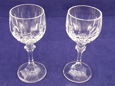 2 Beautiful Small Wine or Sherry Glasses