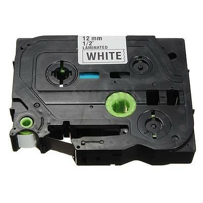 1-5X Laminated Black on White Label Tape For Brother TZ-231 TZe 231 P-Touch 12mm