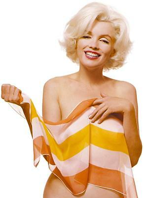 Marilyn Monroe Yellow Veil Portrait Stretched Art Canvas Movie Poster Print Icon