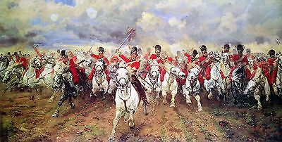 Lady Butler Battle of Waterloo War Canvas Print Art Painting Military Scene Scot