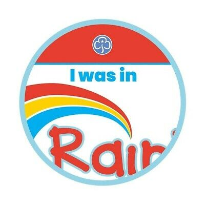 I Was In Rainbows Cloth Badge Official Rainbow Uniform New