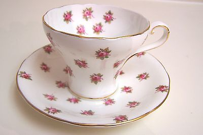 Vintage AYNSLEY  English Bone China Cup and Saucer Decorated with Small Flowers