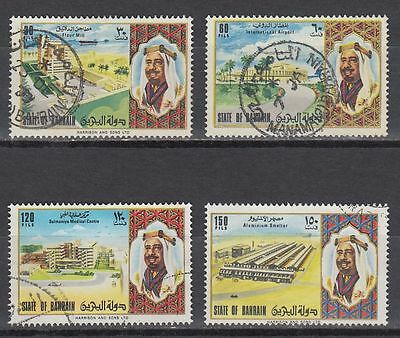 Bahrain 1973 Mi.204/07 SG 194-197 fine used National Day Airport Hospita [g1832]