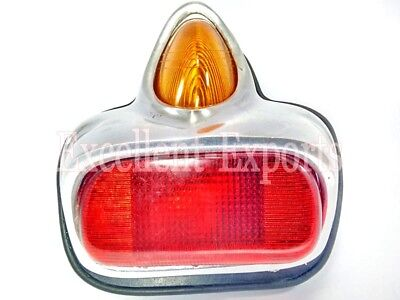 Vespa VBB VBA GS Rally Sprint Rear Tail Brake Light Alloy Polished New V1752