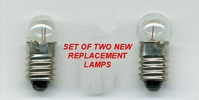 2 MINI LAMPS / BULBS FOR ANY ZENITH 1000 or 3000 SERIES TRANSOCEANIC RADIO