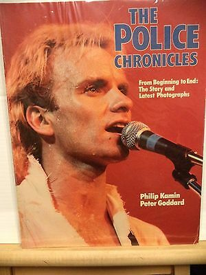 The Police Chronicles by Kamin+ Goddard Book 1984 Photographs Sting VG CONDITION