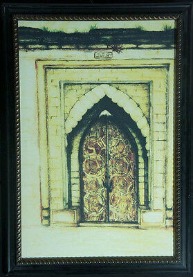 Old fashioned door real handmade oil painting best home decor gift by artist