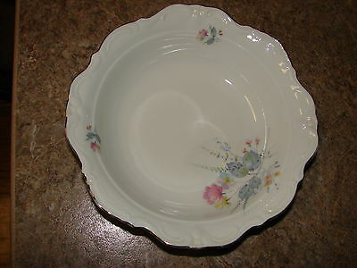 Vintage Winterling Bavaria Germany Flowers Round Vegetable Serving Bowl