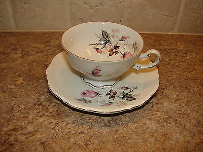 Vintage Mitterteich Bavaria Germany Rose MIT1 Cup and Saucer
