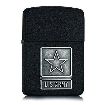 "Zippo 1941 Black Crackle ""US Army"" Emblem Windproof Lighter 28583  --- Free Ship"