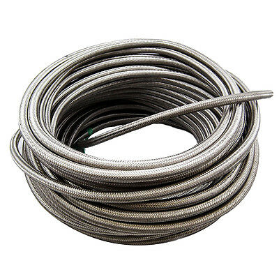 6 AN AN6 Braided Stainless Steel Fuel Oil Gas Hose 1500 PSI Rubber Core by Foot