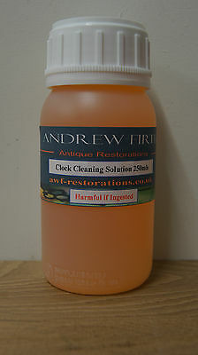 Antique clock cleaning solution 250ml metal cleaner (removes old varnish ect)