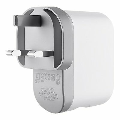 Belkin Dual USB Port AC Wall charger 20W 4.2amp for Smartphones and Tablets UK