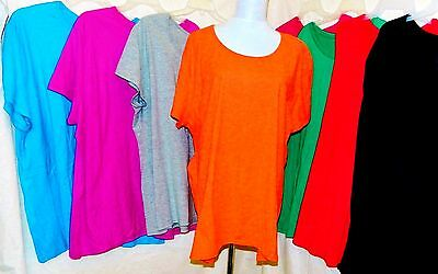 JMS JUST MY SIZE WOMEN PLUS 3X 4X 5X ROUND NECK TEE T SHIRT TOP SHORT SLEEVE