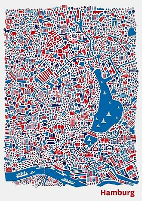 new york stadtplan poster vianina poster kunstdruck bild 100x70cm portofrei eur 89 95. Black Bedroom Furniture Sets. Home Design Ideas