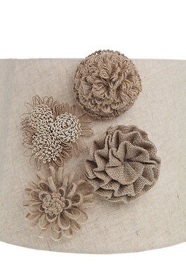 Jute Flower Dbl. Magnet Rosettes~Use on Clothing,Curtains/Scarf/Lamp/Board
