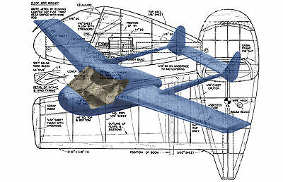 Model Airplane Plan Jetex or Ducted Fan SIPA 200 Mini jet full Size Printed Plan