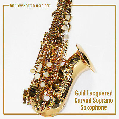 Curved Soprano Saxophone - Gold - New in Case