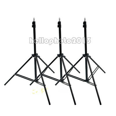 3x 7ft 2M Photography Studio Flash Video Lighting Stand Photo Light Stands Set