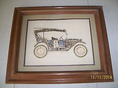 "Chevrolet by Girard Picture Made From Watch Parts / Framed & Matted / 18"" x 15"""