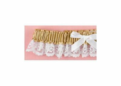 NEW Taupe / Oatmeal Ribbon Lace Garter Wedding or Prom