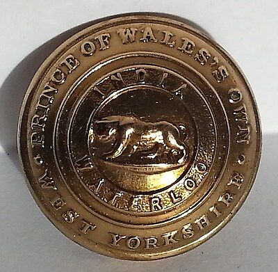 Prince of Wale's Own West Yorkshire Regiment 26mm Tunic Button by JR Gaunt