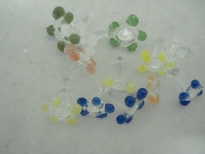 (25) Glass screens daisy style sizes vary and colors vary pipe screens glass