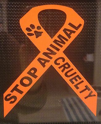Stop Animal Crulety Ribbon dog, Cat,Rescue And Support decal,sticker Pets