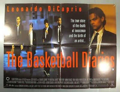 THE BASKETBALL DIARIES - LEONARDO DiCAPRIO - ORIGINAL UK QUAD MOVIE POSTER