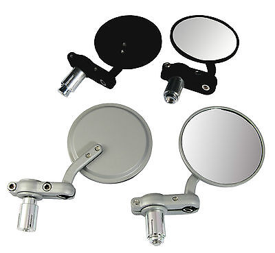 New Mobility Scooter Mirrors - Bar End Fitting Black Or Alloy Pair Of Mirrors
