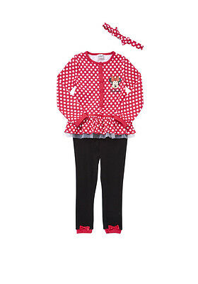 BNWT Disney Minnie Mouse Onesie & Headband All in One Size 2-3, 3-4 or 4-5 years