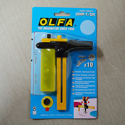 OLFA Ratchet Compass Circle Cutter CMP-1/DX / cuts from 1.6cm to 22cm dia