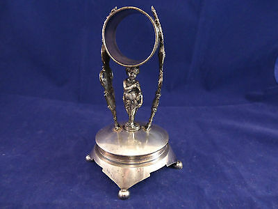 New Haven Silverplate Figural Napkin Ring with Child Under Ring