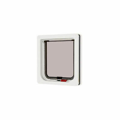 Lockable Cat Flap White 16.5x17.4cm - Accessories - Dog & Cat Doors - Dog & Cat