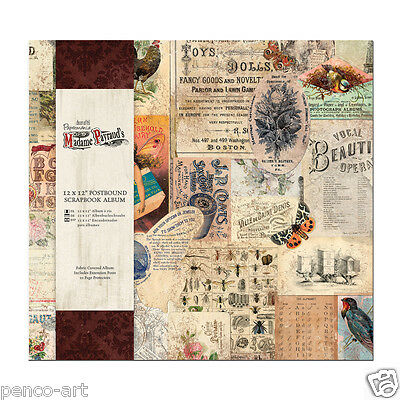 "Papermania scrapbook memory ALBUM 12x12"" Madame payraud's French + 10 protectors"