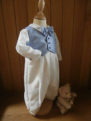 Boys Christening Baptism Outfit Waistcoat Romper Wedding Suit Gown Dress Clothes