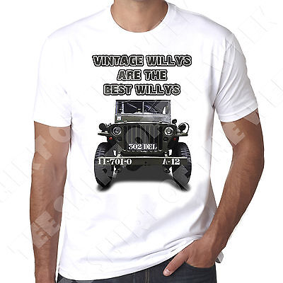 Vintage Willys Are The Best Willys Jeep WW2 4x4 mens T-shirt