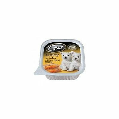 Cesar Tray Puppy With Chicken & Rice With Carrot 100g - Foods - Dog - Wet Foils