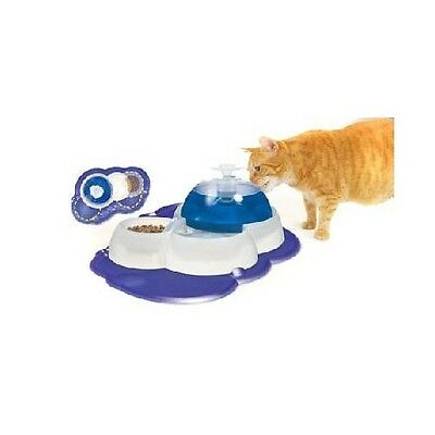 Catit Fresh & Clear Drinking Fountain With Food Bowl - Accessories - Dog & Cat B