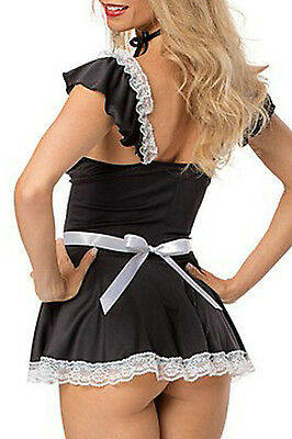 Naughty Dress French Maid Sexy Party Costume LC8858 women mydearlover Free Shipp
