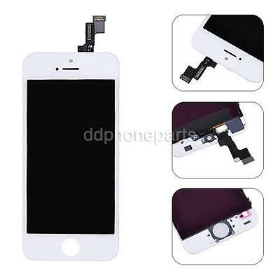 White LCD Screen Touch Digitizer Frame Assembly Replacement For Apple iPhone 5S