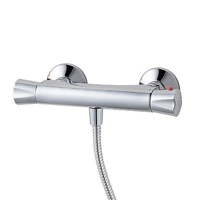 ENKI Thermostatic Bath Shower Valve Mixer Water Tap Bottom Outlet Exposed
