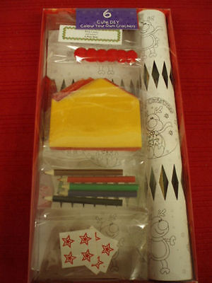 Cute DIY Colour Your Own Christmas Crackers