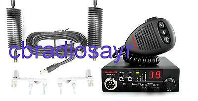 Thunderpole T-800 AM/FM CB Radio & Twin Antenna Kit - Aerials, Harness & Mounts