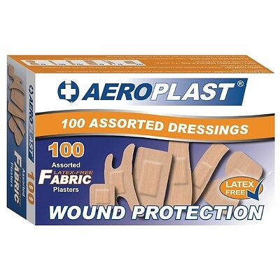 100 x Aeroplast Plasters Assorted Latex free Health Safety Care Working Supplies
